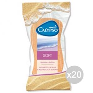 Set 20 CALYPSO Spugna Bagno Soft Classica Cura E Pulizia Del Corpo