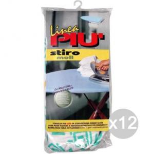 Set 12 Tovaglia Stiro Molletta 140X50 0442F Elastico Accessorio Per Stirare