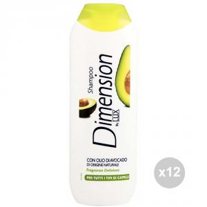 Set 12 DIMENSION Dimension shampoo capelli olio avocado 250ml cura dei capelli