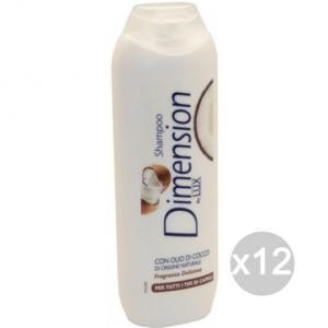 Set 12 DIMENSION Shampoo Per Capelli Cocco Bianco By Lux Cura E Trattamento Dei Capelli