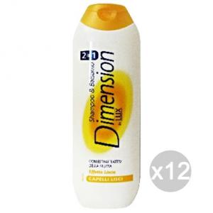 Set 12 DIMENSION Shampoo Per Capelli Lisci Giallo By Lux Cura E Trattamento Dei Capelli