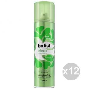 Set 12 BATIST Shampoo Secco Spray 200 Classico Verde Cura E Trattamento Dei Capelli
