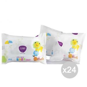 Set 24 CLENDY Salviette Baby X20 S/Coperchio Miele 101021 Igiene E Cura Del Bambino