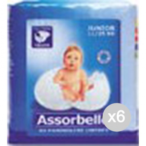 Set 6 ASSORBELLO Junior Kg.11/25 20Pieces 325 Hygiene And Care Of The Child
