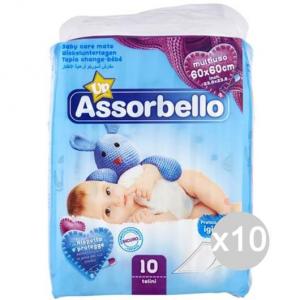 Set 10 ASSORBELLO Telo Igienico 60/60 Cambio Pannoli Igiene E Cura Del Bambino