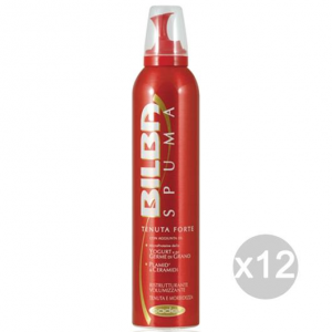 Set 12 BILBA Spuma Forte 200Ml Germe Grano Ceramidi E Acconciatura Capelli
