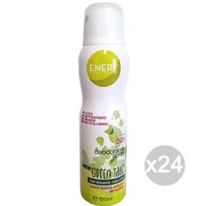 Set 24 ENERY Deodorante Spray Donna Green Talco 150 Everton Cura E Igiene Del Corpo