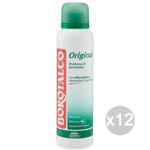 Set 12 BOROTALCO Deodorant Spray 125 Ml Original Body Care And Hygiene