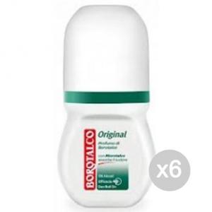 Set 6 BOROTALCO Deodorante Roll-On Original Ml 50 Cura E Igiene Del Corpo