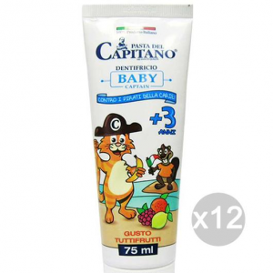 Set 12 CAPITANO Toothpaste Children +3 Years Fruit Health And Dental Care