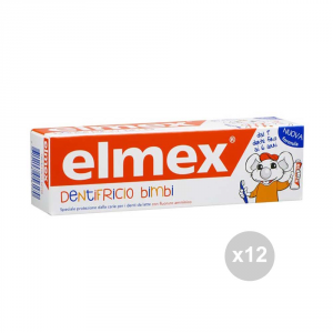 Set 12 ELMEX Dentifricio bambini 0-6 50 ml igiene dentale