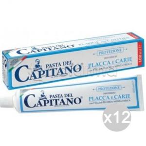 Set 12 CAPITANO Dentifricio 75+25 Placca Carie Blu Igiene E Cura Dei Denti