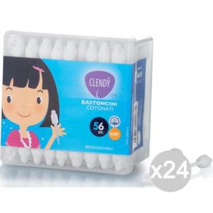 Set 24 CLENDY Cotton Stic X 56 Baby Igiene E Cura Del Bambino