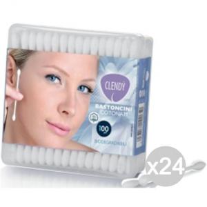 Set 24 CLENDY Cotton Stic X 100 102010 Cura E Pulizia Del Viso