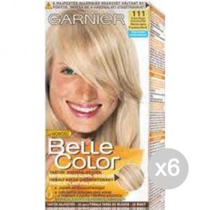 Set 6 BELLE COLOR 111 Biondo Chiarissimo Cenere Tinta E Colore Per Capelli