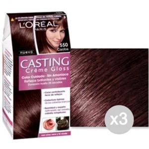 Set 3 CASTING Creme Gloss 550 Mogano Tinta E Colore Per Capelli