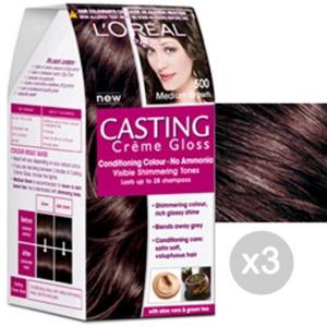 Set 3 CASTING Creme Gloss 500 Light Brown. Ebene Und Farbe Hair