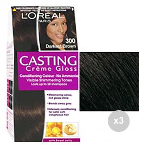 Set 3 CASTING Casting Crème Gloss 300 Dunkelbraun gefärbt Haarfärbemitteln