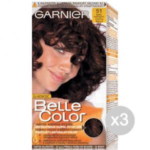 Set 3 BELLE COLOR 51 Mogano Scuro Naturale Tinta E Colore Per Capelli