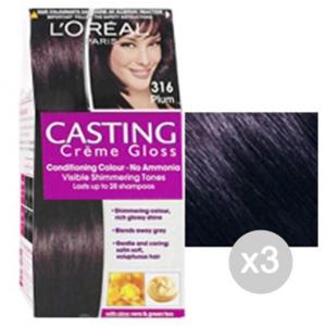 Set 3 CASTING Creme Gloss 316 Plum. Ebene Und Farbe Hair