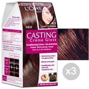 Set 3 CASTING Creme Gloss 415 Glasierte Maronen'. Ebene Und Farbe Hair
