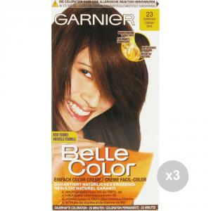 Set 3 BELLE COLOR Belle color 23 castano dorato tinta colorata per capelli