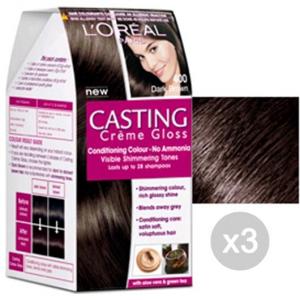 Set 3 CASTING Creme Gloss 400 Brown. Ebene Und Farbe Hair