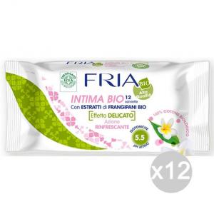 Set 12 FRIA Salviette Intime X 12 Biologic Cura E Igiene Del Corpo