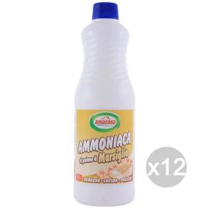 Set 12 AMA Ammoniaca Profumata Marsiglia Lt 1 Detersivi E Pulizia Della Casa