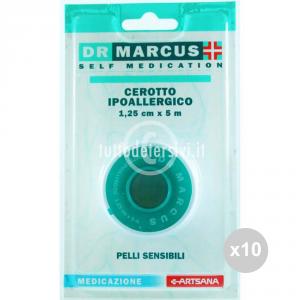 Set 10 DR MARCUS Rocchetto cm 2,5 tessuto cerotto farmaceutica e medicazione