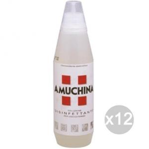 Set 12 AMUCHINA Disinfettante Lt 1 Soluzione Parafarmacia