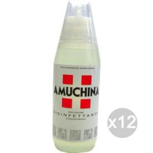 Set 12 AMUCHINA Disinfettante Ml 500 Soluzione Parafarmacia