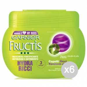 Set 6 FRUCTIS Hydra-Mask 300 Ml Care And Curly Hair Treatment
