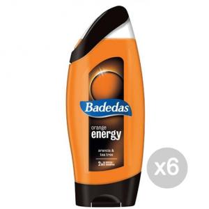 Set 6 BADEDAS Doccia Shampoo Orange Energy 2In1 Cura E Trattamento Dei Capelli