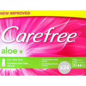Set 24 CAREFREE Aloe ripiegato x 30 assorbente igiene intima