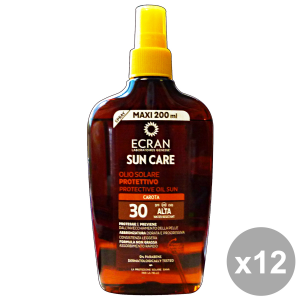 Set 12 ECRAN FP30 Olio CAROTA Spray 200 ML Prodotti Solari