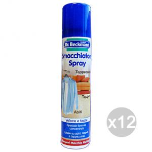 Set 12 DR.BECKMANN Smacchiatore Spray 100 Ml Detersivo Per Abiti E Vestiti