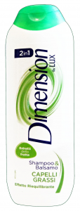 DIMENSION Shampoo 2/1 verde grassi 250 ml. - Shampoo capelli