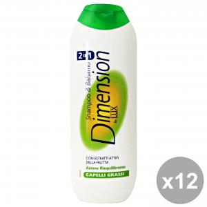Set 12 DIMENSION Shampoo 2-1 Verde Grassi 250 Ml. Prodotti per capelli