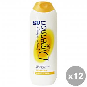 Set 12 DIMENSION Shampoo 2-1 Giallo Capelli Lisci 250 Ml. Prodotti per capelli