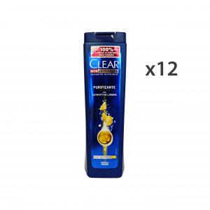 CLEAR Set  12 Shampoo Purificante Grassi 250 Ml. Prodotti Per Capelli