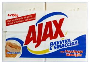 AJAX Sapone Bucato MARSIGLIA * 4 Pezzi 600 Gr.  Detergenti Casa