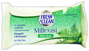 FRESH & CLEAN Salviette milleusi white musk * 12 pz.