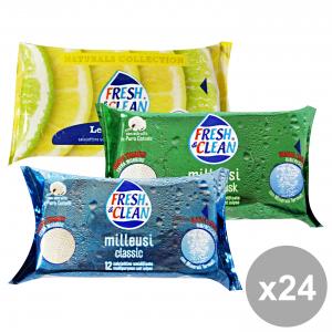 Set 12 FRESH & CLEAN fresh&clean salviette milleusi x 12 classic-musk-lemon igienici sanitari