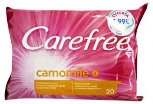 CAREFREE Salviette intime camomilla * 20 pz. - detergenti intimi