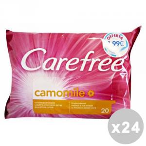CAREFREE Set 24 CAREFREE Salviette intime camomilla * 20 pz. - detergenti intimi
