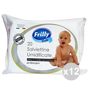 Set 12 FRILLY Salviette BIMBO X 20 Pezzi Linea Bimbo