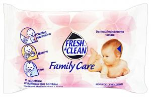 FRESH & CLEAN Salviette baby * 18 pz. family care - linea bimbo