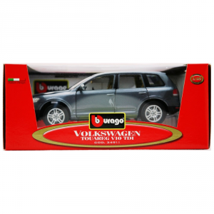 BBURAGO Modellini Auto Scala 1:18 Vw Touareg V10 Tdi Grigia Giocattolo Bambino