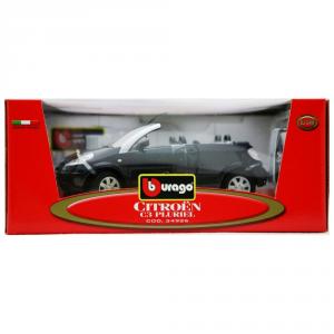 BBURAGO Modellini Auto Scala 1:18 Citroen C3 Pluriel Nera Giocattolo Bambino